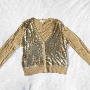 Michael Kors GOLD Sequin Top